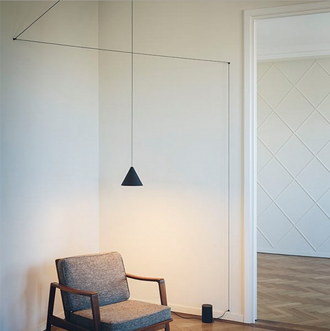 flos string suspension lamp cone