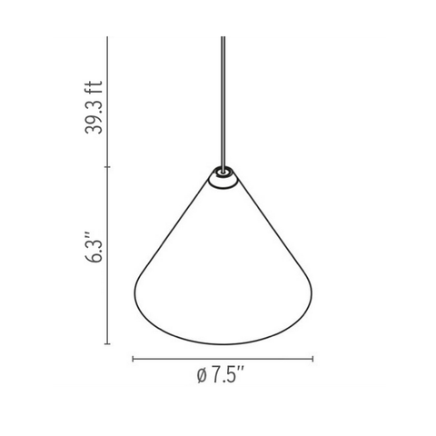 flos string suspension lamp cone specs