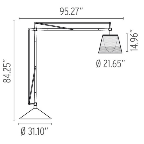 flos superarchimoon outdoor lamp specs