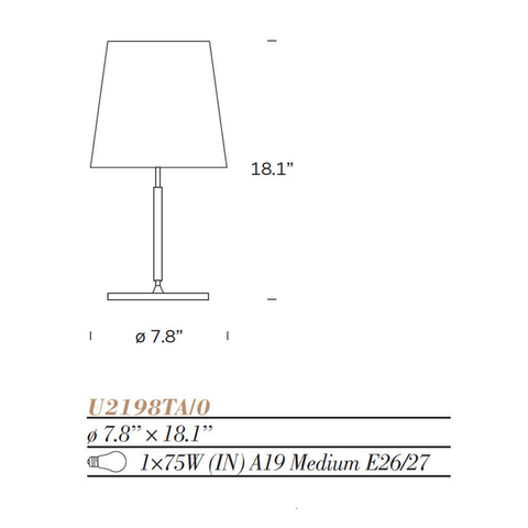 fontanaarte 2198ta table lamp specifications
