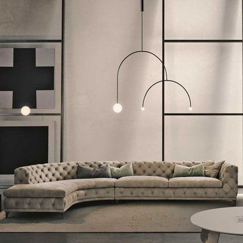 gamma aston sectional sofa with return