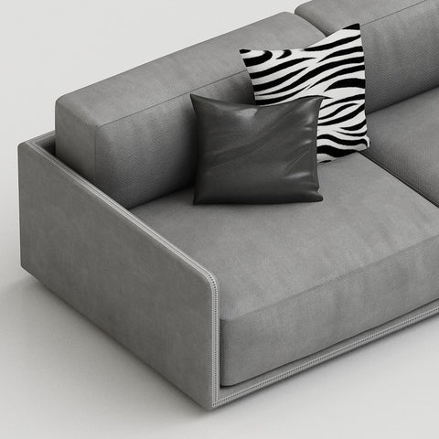 gamma border sectional sofa