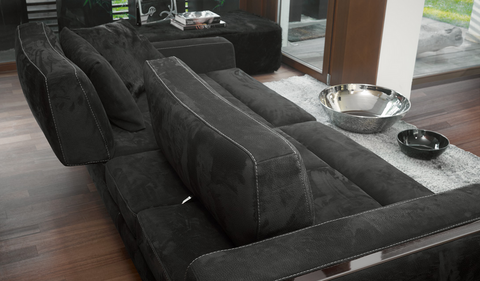 gamma laguna sofa in black