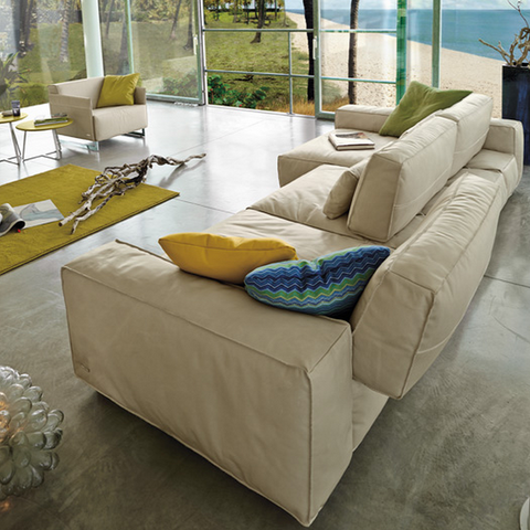 gamma soho sectional with chaise side