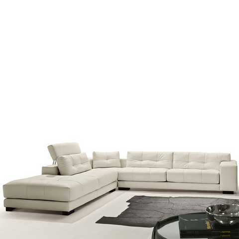 gamma soleado sectional sofa with return