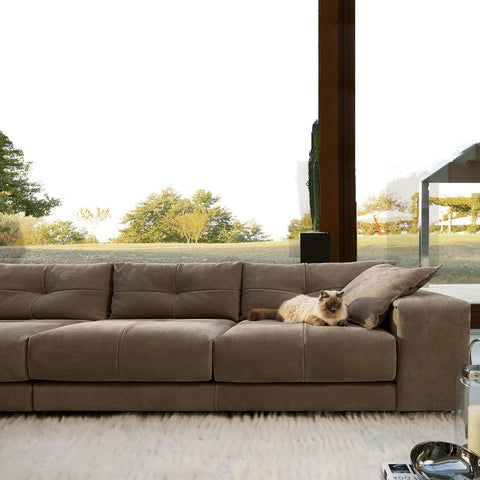 gamma soleado sofa in brown