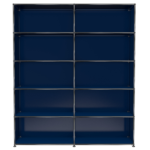 usm haller shelving h2 in steel blue
