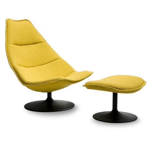artifort f585 lounge chair and ottoman