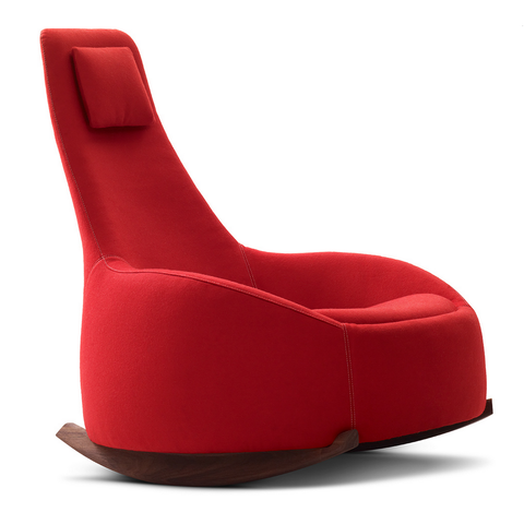 montis dim sum rocking chair in red