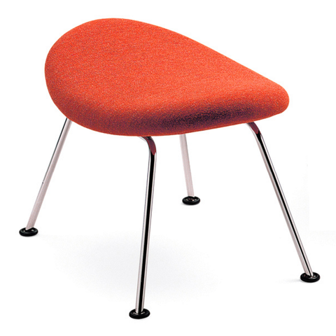 artifort orange slice ottoman in orange