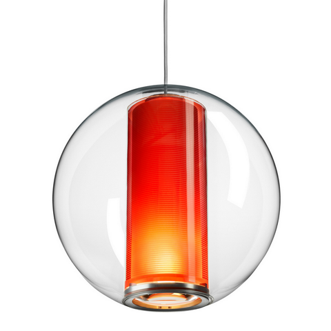 pablo bel' occhio suspension lamp in orange