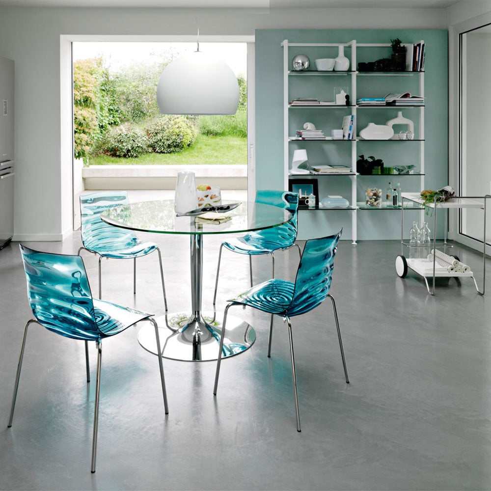 ... Calligaris Planet Large Glass Dining Table