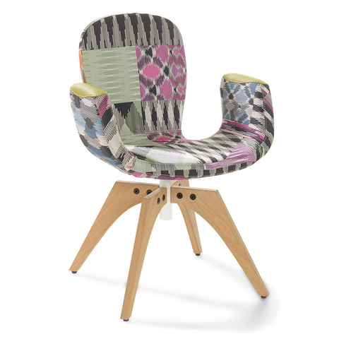 artifort patch 02 swivel armchair with 4 leg base missoni