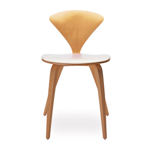 cherner side chair with upholstered seat