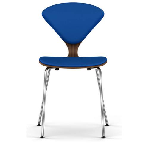 cherner stacking chair with upholstered seat & back