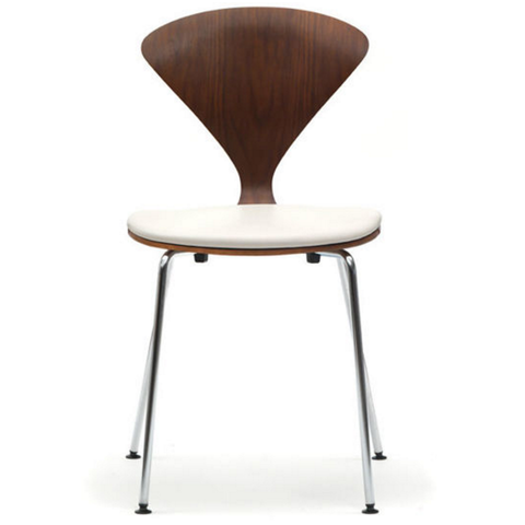 cherner stacking chair with upholstered seat