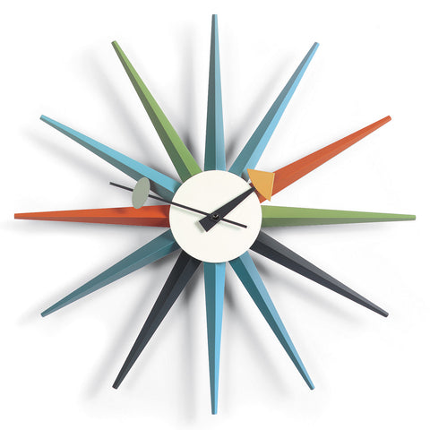 vitra multicolor sunburst wall clocks