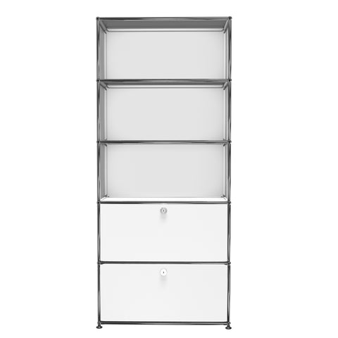 usm haller shelving r1f in pure white