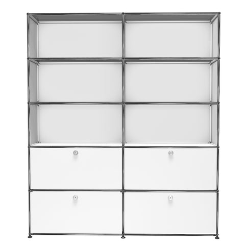 usm haller shelving r2f in pure white
