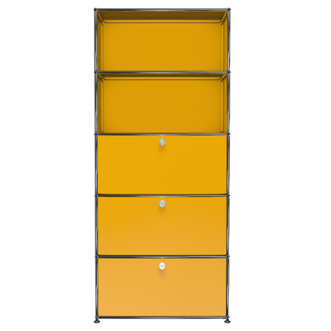 usm haller shelving q1 in yellow