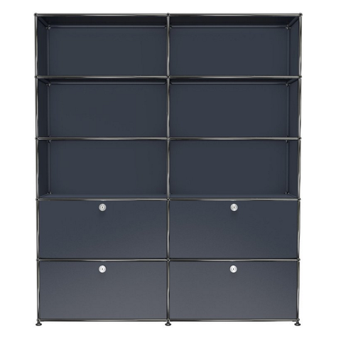 usm haller shelving r2 in anthracite