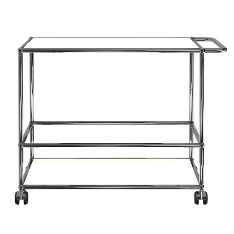 usm haller serving cart l in pure white