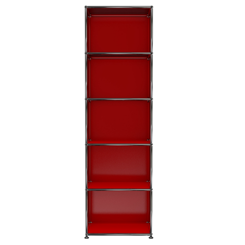 usm haller shelving j in red