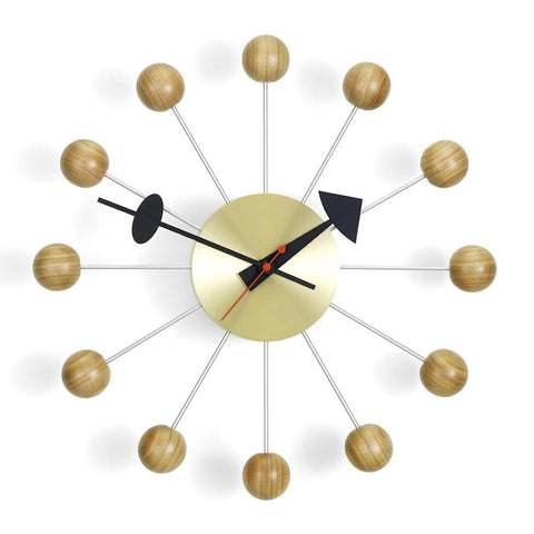 Copy of vitra ball clock in cherry