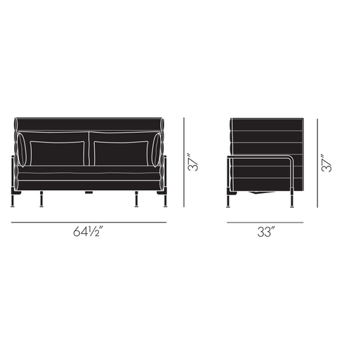 vitra alcove two-seater sofa specs