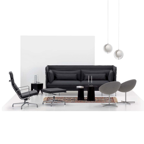 vitra alcove three-seater sofa staged
