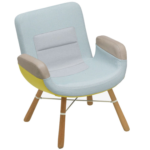 vitra east river lounge chair yellow blue