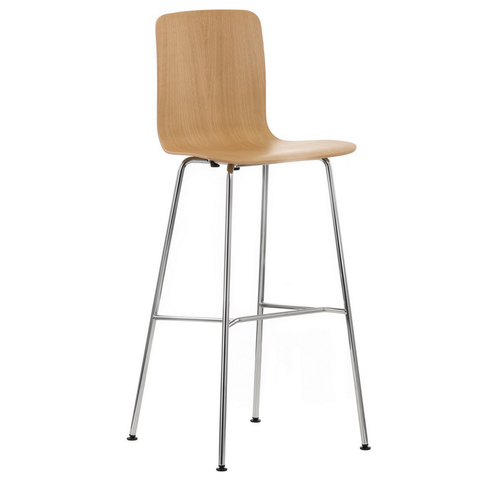 vitra hal ply stool high in oak