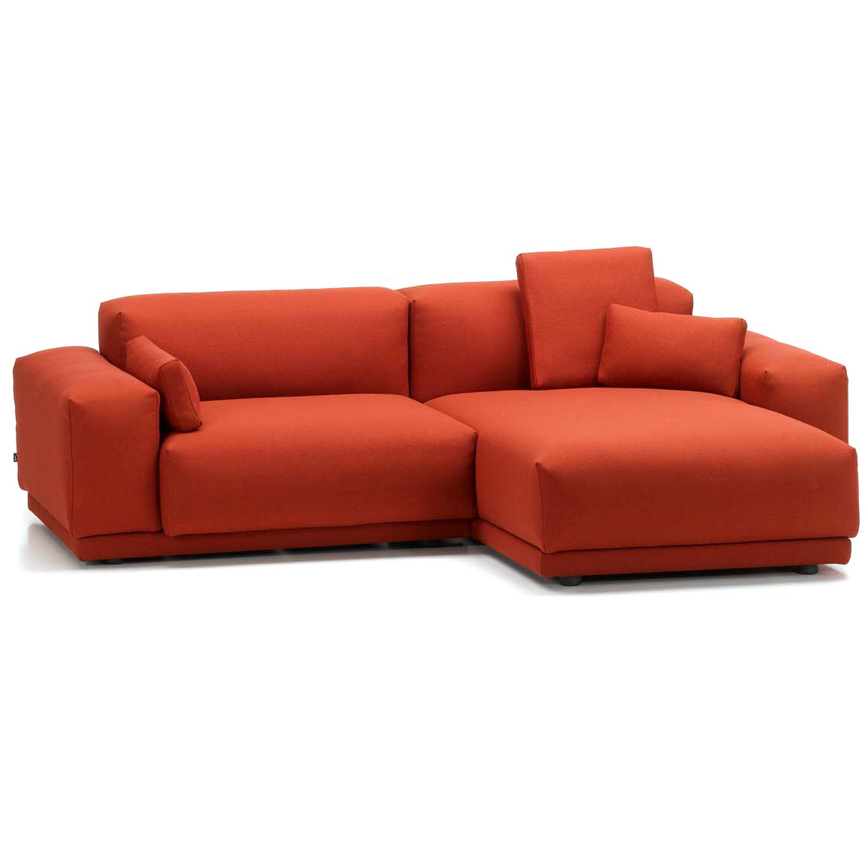 Two seater sofa with chaise Chaise longue bascule 2 places