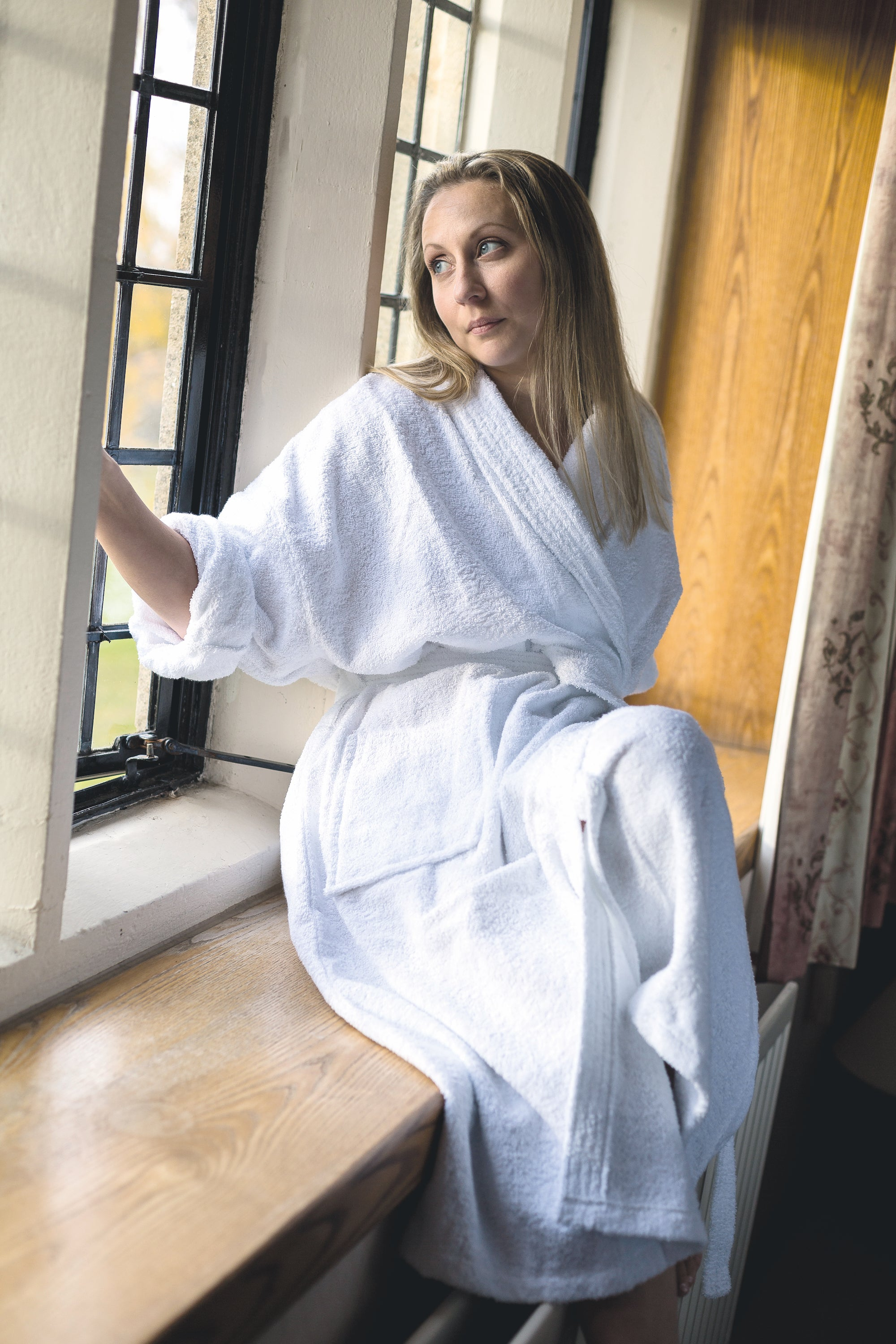 Unisex Luxury Cotton Towelling Bathrobe