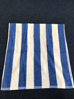Load image into Gallery viewer, 100% cotton blue and white stripe splash pool towel