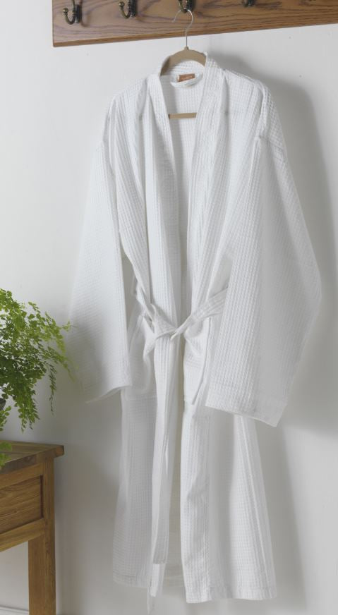Unisex Cotton Blend Waffle Bathrobe