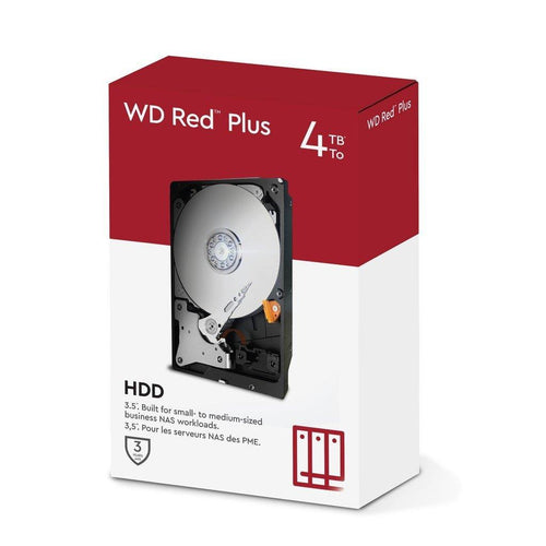 WD Red Plus - כונן קשיח 3.5״ - Western Digital - Gem Drives 4TB