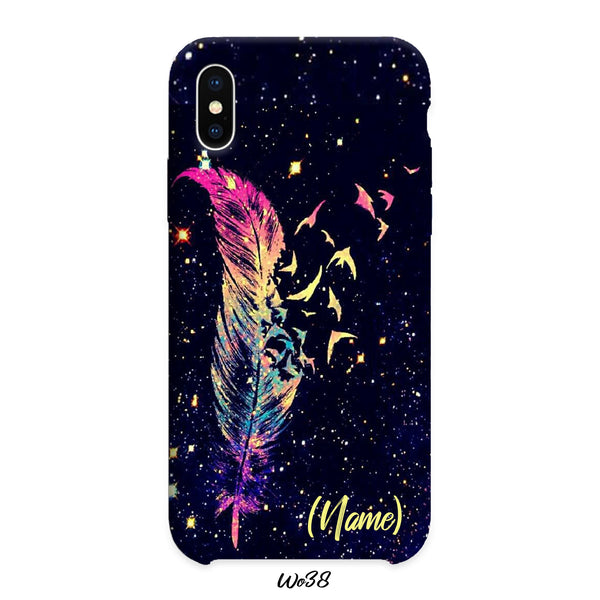 gradient bird feather case