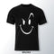 Smile Face Black T Shirt