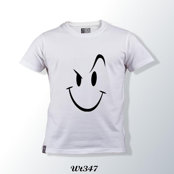 Smile Face  White T Shirt