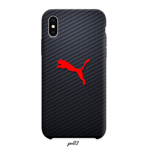 Puma Emblem Vlack Red Case