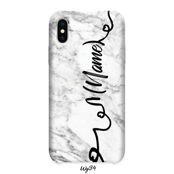 white named marble case