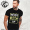Never Give Up Black T Shirt