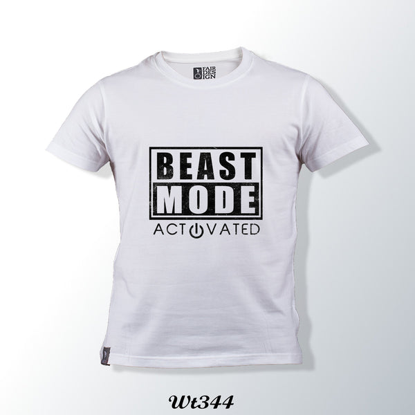 Beast Mode White T Shirt