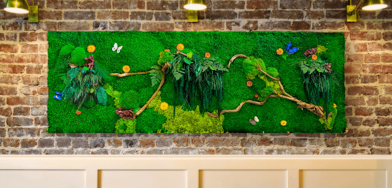 Preserved Moss Walls, Moss Panels and Moss Art Pictures