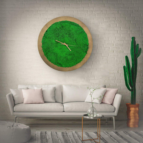 Large wooden wall clock, Oversized wooden Clock, Moss wall Clock, Wooden Moss Clock, Wall Clock, Moss Clock, Rustic Clock, Wooden Clock, wall clock, large wall clocks, wall art, wall clock, wall decor