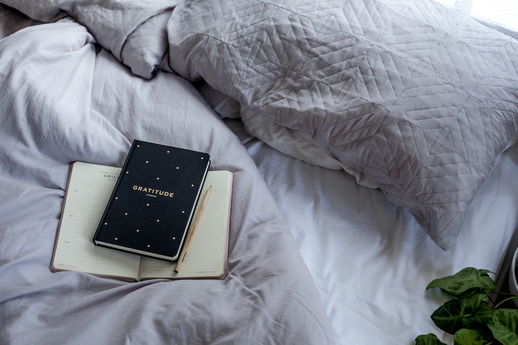 Gratitude Journal on bed