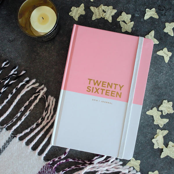 Image of Pink 2016 Journal on a desk