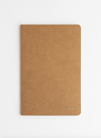 Personalised Brown Kraft Softcover notebooks 3 Pack