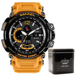 Montre Militaire Orange Jaune